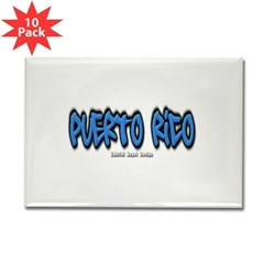 Puerto Rico Graffiti Rectangle Magnet (10 pack)