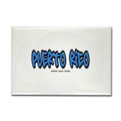 Puerto Rico Graffiti Rectangle Magnet