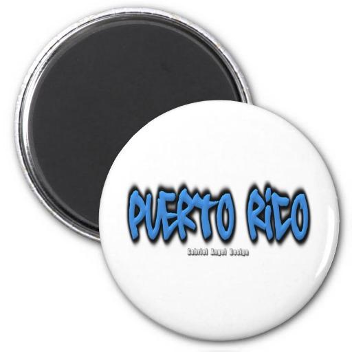 Puerto Rico Graffiti Refrigerator Magnet