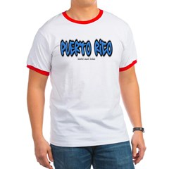 Puerto Rico Graffiti Ringer T-Shirt