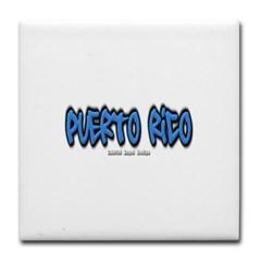 Puerto Rico Graffiti Tile Coaster