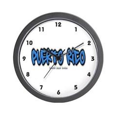 Puerto Rico Graffiti Wall Clock