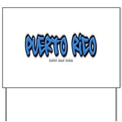 Puerto Rico Graffiti Yard Sign