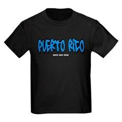Puerto Rico Graffiti Youth Dark T-Shirt by Hanes