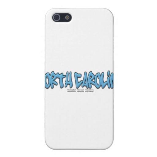 North Carolina Graffiti Case Savvy Matte Finish iPhone 5/5S Case