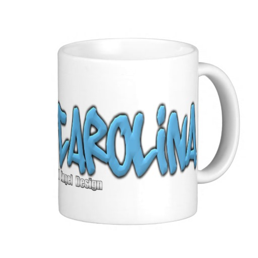North Carolina Graffiti Classic White Mug