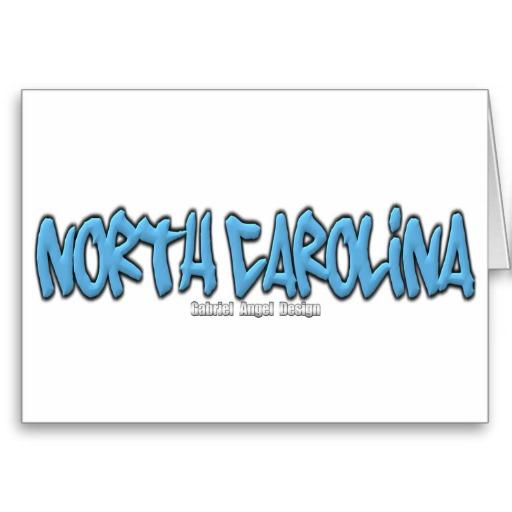 North Carolina Graffiti Greeting Card
