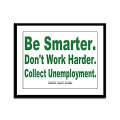 Collect Unemployment Framed Panel Print