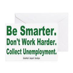 Collect Unemployment Greeting Cards Pk of 10