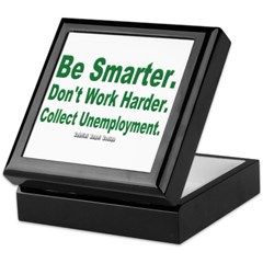 Collect Unemployment Keepsake Box