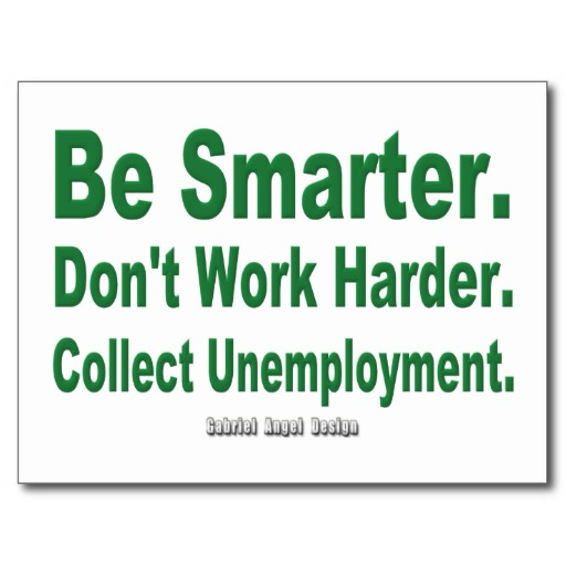 Collect Unemployment Postcard
