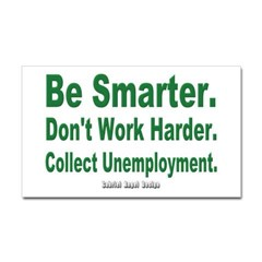 Collect Unemployment Rectangle Decal