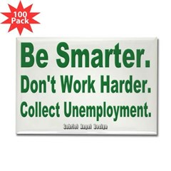 Collect Unemployment Rectangle Magnet (100 pack)