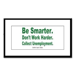 Collect Unemployment Small Framed Print