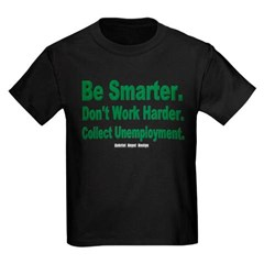 Collect Unemployment Youth Dark T-Shirt by Hanes
