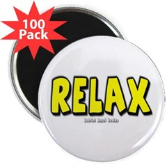 "Relax 2.25"" Magnet (100 pack)"