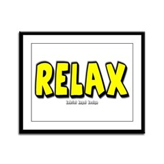 Relax Framed Panel Print