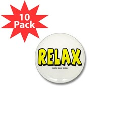 Relax Mini Button (10 pack)
