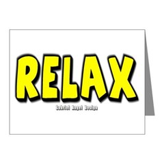 Relax Note Cards (Pk of 20)