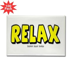 Relax Rectangle Magnet (100 pack)