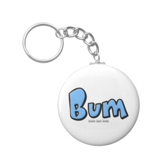 Bum Basic Button Keychain