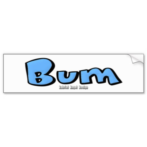 Bum Bumper Sticker