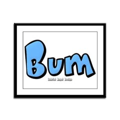 Bum Framed Panel Print