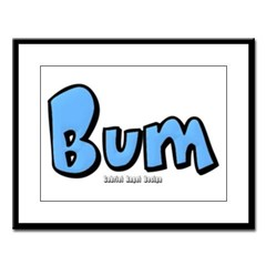 Bum Large Framed Print