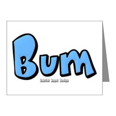 Bum Note Cards (Pk of 20)