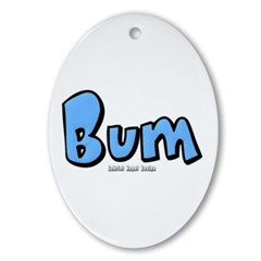 Bum Oval Ornament