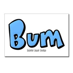 Bum Postcards (Package of 8)