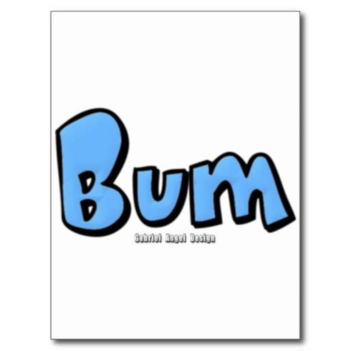 Bum Postcard