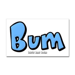 Bum Rectangle Decal