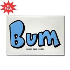 Bum Rectangle Magnet (10 pack)