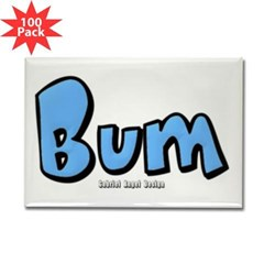 Bum Rectangle Magnet (100 pack)