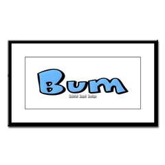 Bum Small Framed Print