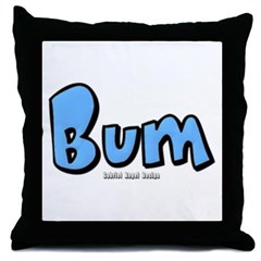 Bum Throw Pillow