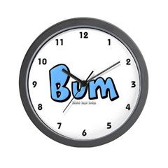 Bum Wall Clock