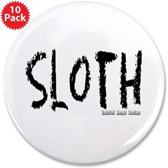 """Sloth Logo 3.5"""" Button (10 pack)"""