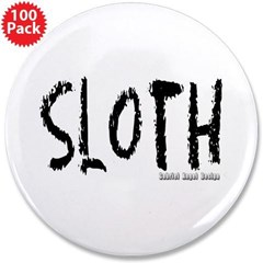 "Sloth Logo 3.5"" Button (100 pack)"