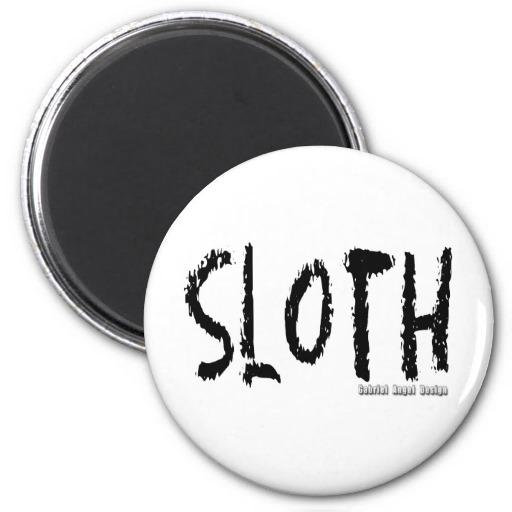 Sloth Logo Fridge Magnet