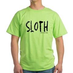 Sloth Logo Green T-Shirt