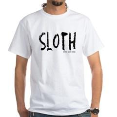 Sloth Logo White T-Shirt
