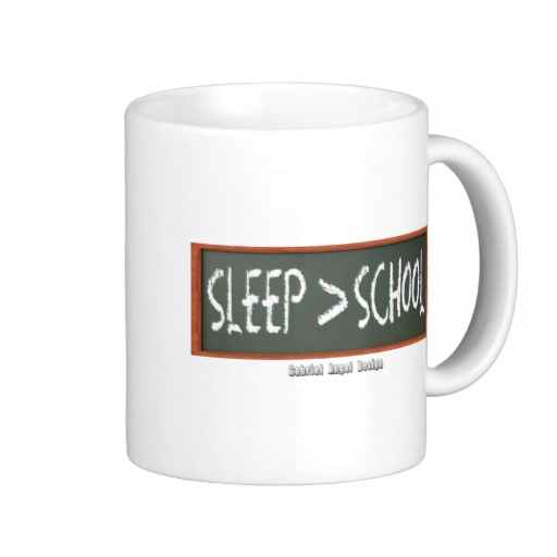 Sleep is Greater than School Classic White Mug