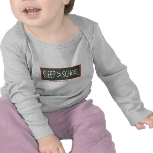 Sleep is Greater than School Infant Bella Long Sleeve T-Shirt