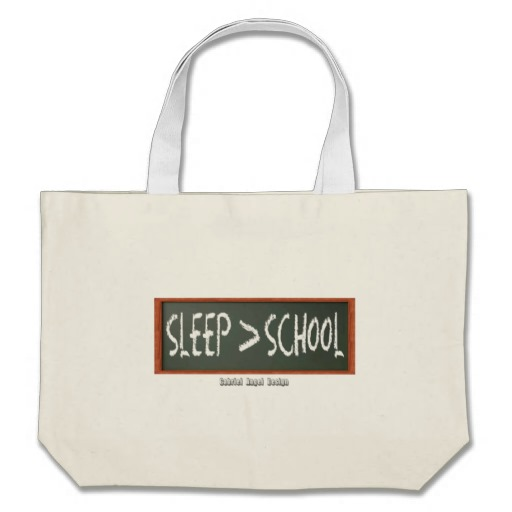 Sleep is Greater than School Jumbo Tote