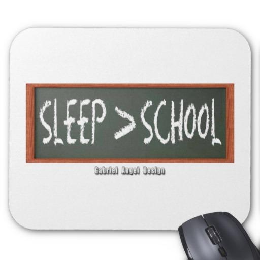 Sleep is Greater than School Mousepad