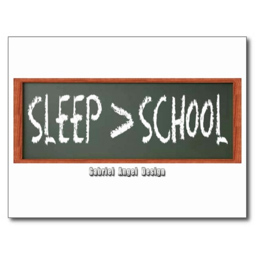 Sleep is Greater than School Postcard