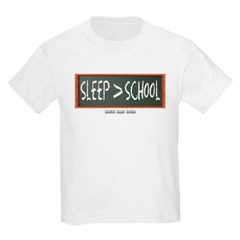 Sleep is Greater than School Youth T-Shirt by Hanes