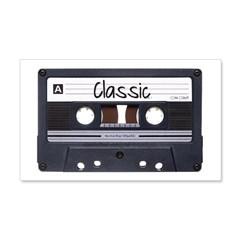 Classic Cassette 22x14 Wall Peel